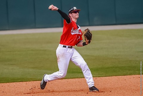 Austin Peay Baseball unable to push runs across the plate in 6-1 loss to Jacksonville State Friday night. (APSU Sports Information)