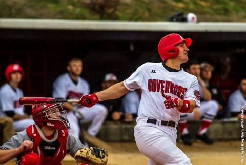 Austin Peay Baseball's Garrett Copeland goes 5-for-5 night to helps Govs to 16-10 victory over Southern Illinois Tuesday night. (APSU Sports Information)