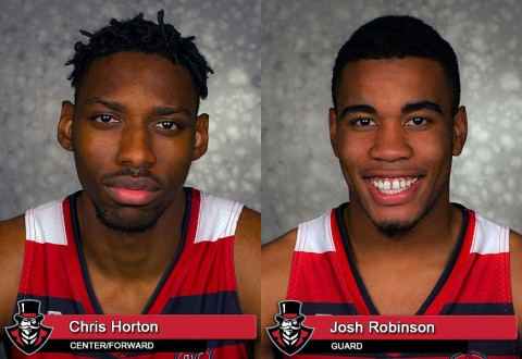 Austin Peay Basketball's Chris Horton and Josh Robinson earn OVC Honors. (APSU Sports Information)