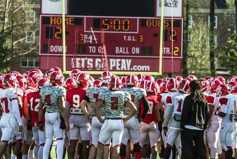 Austin Peay Football will hold first spring scrimmage at Morgan Brothers Soccer Field this Saturday. (APSU Sports Information)