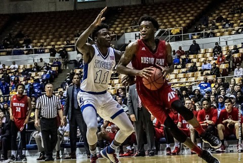 Austin Peay Basketball squares off against #1 seeded Belmont Bruins Friday afternoon in the OVC Tournament semifinals at Municipal Auditorium. (APSU Sports Information)