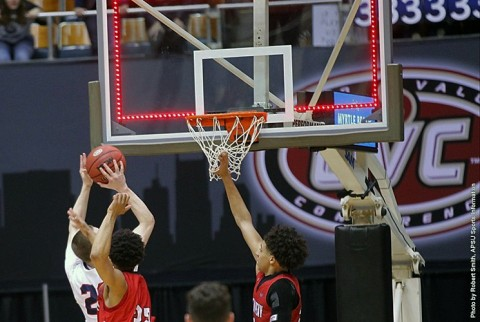 Austin Peay Governors Basketball defeats Belmont Bruins 97-96 overtime to advance to the OVC Championship Game. (APSU Sports Information)