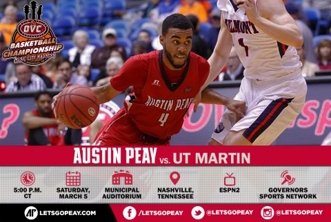 Austin Peay Men's Basketball continues OVC Tournament run today taking on UT Martin in OVC Championship game.(APSU Sports Information)