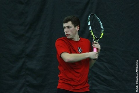 Austin Peay Men's Tennis takes on VCU at Nashville's Belle Meade Country Club Saturday afternoon. (APSU Sports Information)
