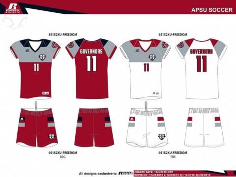 APSU Soccer Uniforms