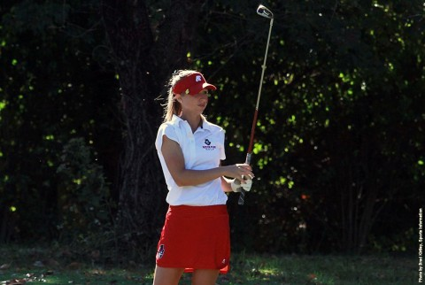 Austin Peay Women's Golf senior Jessica Cathey fires a 2 under 70 to medal at Saluki Inviational, Monday. (APSU Sports Information)