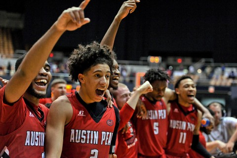 "Austin Peay Governors Basketball will be featured in the CBS ""Bridge Show"" live Saturday afternoon. (Jim Brown-USA TODAY Sports)"