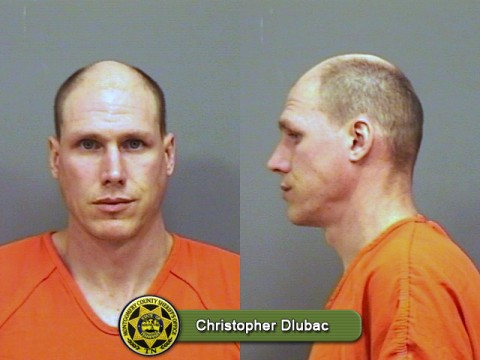 Christopher Dlubac arrested for three violations of the sex offender registry. Failure to report current address, residing with minor children, and being present at a day care. He has also been charged with simple possession and unlawful drug paraphernalia.