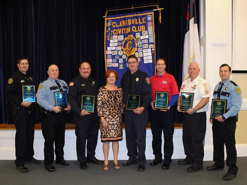 Local Heroes honored Wednesday by Clarksville Civitan Club.