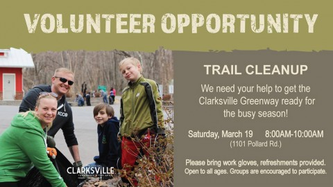 Clarksville Greenway Trail clean-up