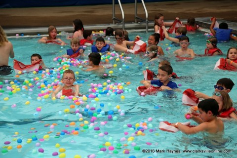 Clarksville's Wettest Egg Hunts were held Saturday.