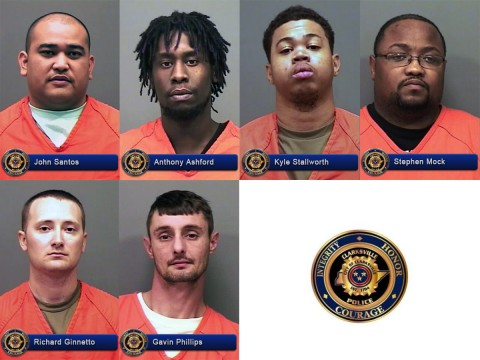 Clarksville Police charged John Santos, Anthony Ashford, Kyle Stallworth, Stephen Mock, Richard Ginnetto and Gavin Phillips with Patronizing Prostitution.