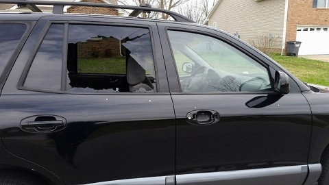 Example of the damage to some of the vehicles. (Officer Amberlece Berman)