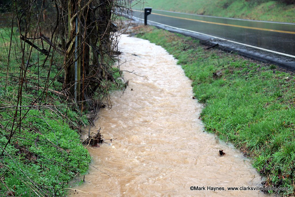 Recent rain and storms fell on an already saturated ground creating heavy run off and flooding.