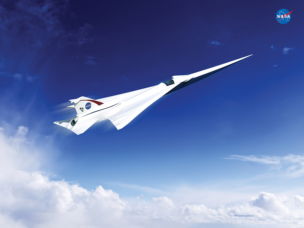 This is an artist's concept of a possible Low Boom Flight Demonstration Quiet Supersonic Transport (QueSST) X-plane design. The award of a preliminary design contract is the first step towards the possible return of supersonic passenger travel – but this time quieter and more affordable. (Lockheed Martin)