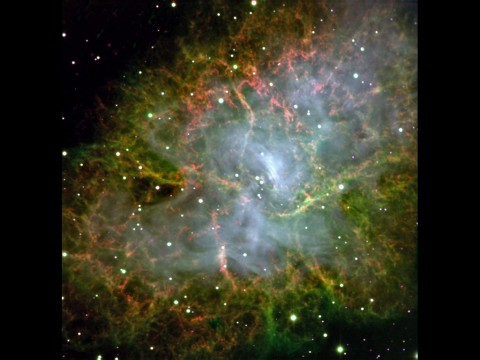 This image of the Crab Pulsar was taken with CHIMERA, an instrument at the Palomar Observatory, which is operated by the California Institute of Technology. (NASA/JPL-Caltech)