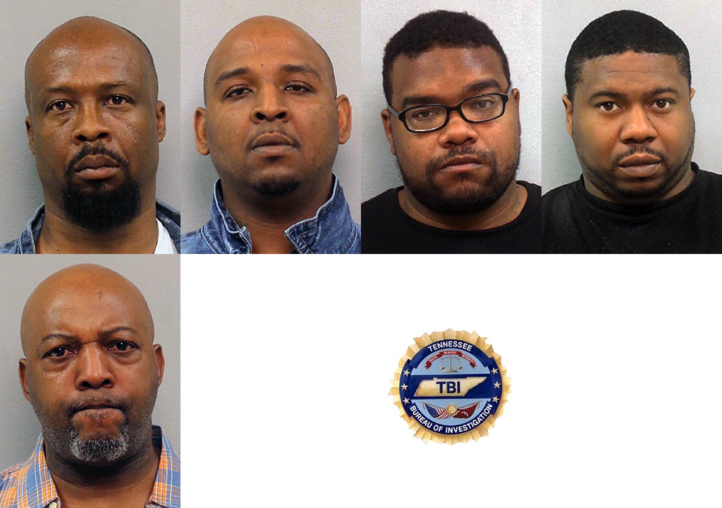 Tennessee Bureau of Investigation charges Five Individuals