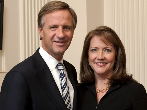 Tennessee Governor Bill Haslam and First Lady Crissy Haslam
