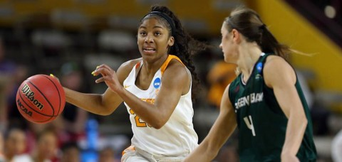 Tennessee Women's Basketball overcomes early 8-point deficit to advance to NCAA Tournament Second Round. (UT Athletics Department)