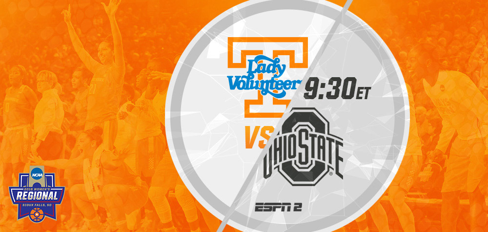 The Tennessee Lady Vols will take on #3 seed Ohio State on Friday at 8:30pm CT from Sioux Falls, SD. (UT Athletics Department)
