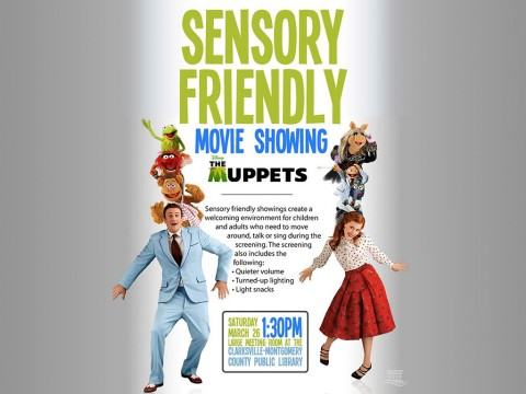 "The next Clarksville-Montgomery County Public Library Sensory Friendly Movie will be the ""The Muppets"" this Saturday, March 26th."