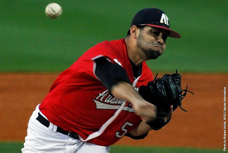 Austin Peay's Alex Robles strikes out a season high 10 batters in Govs win over Tennessee Tech, Friday. (APSU Sports Information)