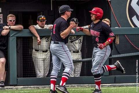 Austin Peay Baseball has two home runs in 8-5 loss to Vanderbilt Commodores Tuesday in Nashville. (APSU Sports Information)