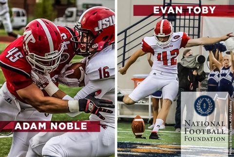 Adam Noble, Evan Toby recognized by NFF Hampshire Society Honors. (APSU Sports Information)