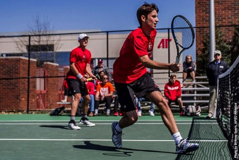 Austin Peay Men's Tennis rolls to a 6-1 win over Murray State Tuesday. (APSU Sports Information)