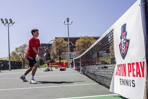 Austin Peay Men's Tennis fall 4-2 to Belmont to end season. (APSU Sports Information)