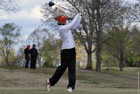 Austin Peay Women's Golf's Jessica Cathey sits in second place after two rounds in Jan Weaver Invitational. (APSU Sports Information)