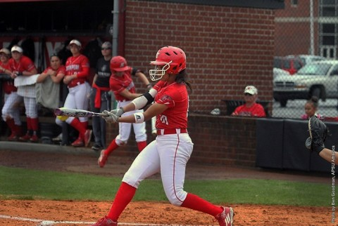 Austin Peay Softball loses 1-0 to UT Martin Sunday afternoon. (APSU Sports Information)