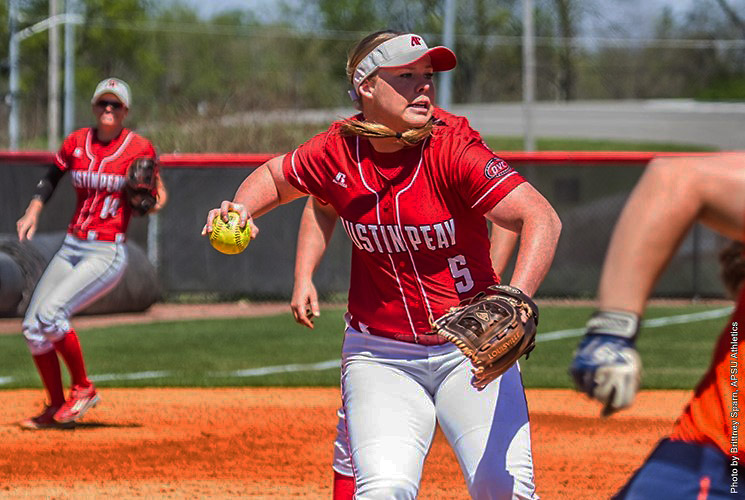 Austin Peay Softball loses first game 7-4 only to come back and win second game 7-4 against Tennessee State Sunday afternoon. (APSU Sports Information)
