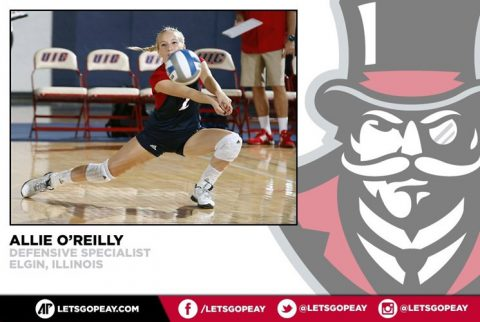 Allie O'Reilly joins Austin Peay Volleyball for the 2016 Season. (APSU Sports Information)