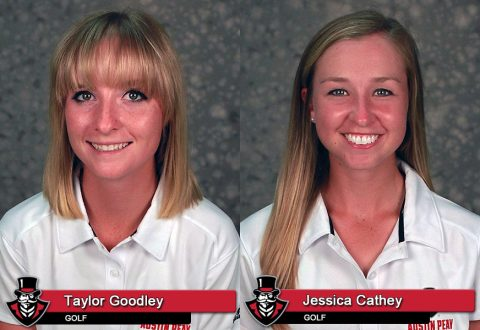 Austin Peay's Taylor Goodley earns OVC All-Newcomer and Jessica Cathey earns All-OVC. (APSU Sports Information)