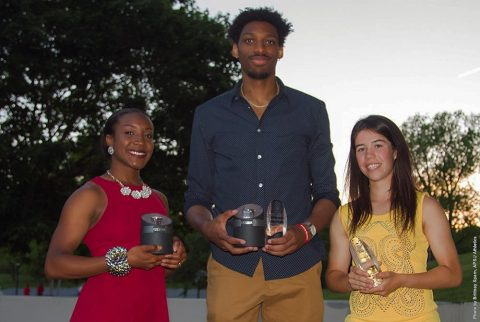 (L to R) APSU's Breigh Jones, Chris Horton and Lidia Yanes Garcia. (APSU Sports Information)
