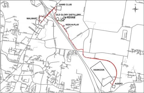 Clarksville Transit System Hankook Bus Route