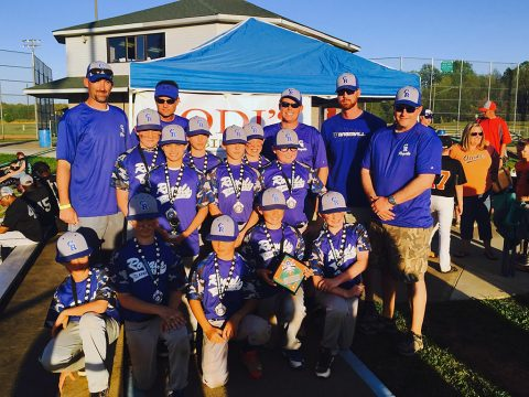 Clarksville Royals 11U baseball team wins first at Jodi's Cabinet Sales Spring Jam tournament.