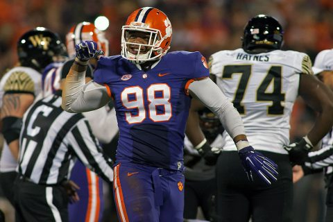 Clemson Tigers outside linebacker Kevin Dodd was selected by the Tennessee Titans with the 33rd overall pick in the NFL Draft. (Jeremy Brevard-USA TODAY Sports)