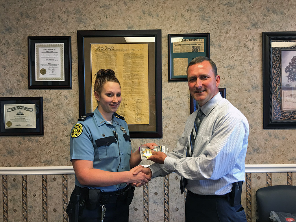 Jessica Crane has been promoted to 3rd shift corporal. She has worked for the MCSO since February 2011.