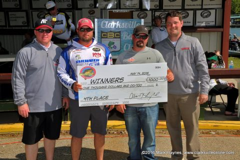 Reed Baldwin and Justin Hopper came in 4th place and won the Big Bass prize.