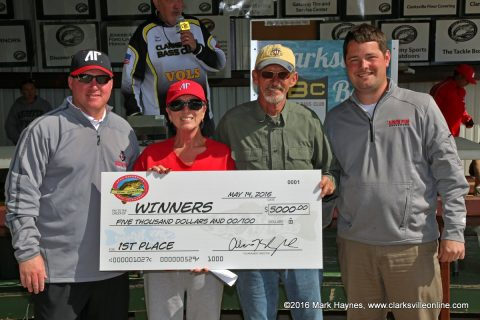 Husband/wife team of Frank and Connie Fisher from Clarksville came in First Place at 21st Annual APSU Governors Bass Tournament.