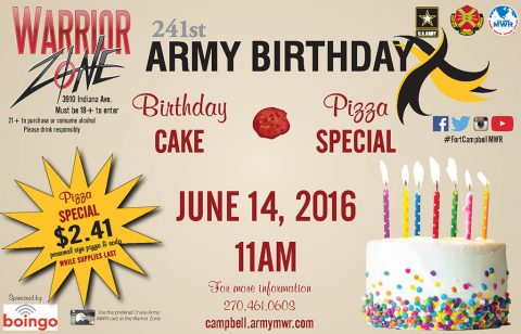 2016 Warrior Zone Army Birthday