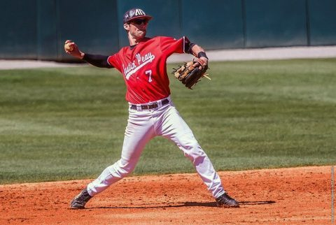 Austin Peay Baseball hosts UT Martin Skyhakws for three game OVC series this weekend at Raymond C. Hand Park. (APSU Sports Information)