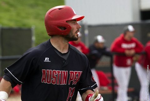 Austin Peay Baseball allows four runs in the ninth in 8-7 loss to Lipscomb Bisons Tuesday night. (APSU Sports Information)