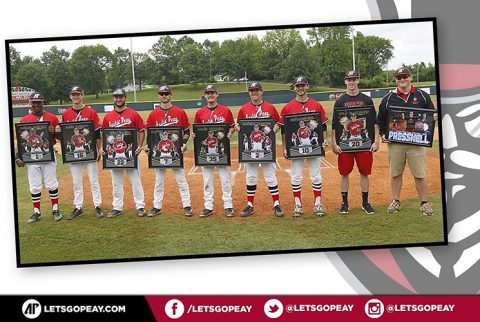 Austin Peay Senior Day was held Sunday before the Oklahoma game. (APSU Sports Information)