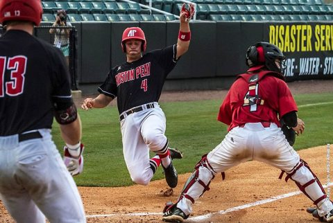 Austin Peay Baseball loses to Jacksonville State; falls into losers bracket at OVC Tournament. (APSU Sports Information)