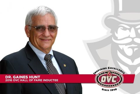 Former APSU Athletics Representative Dr. Gaines Hunt to be inducted into the Ohio Valley Conference Hall of Fame