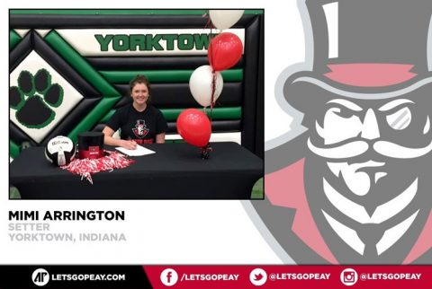 APSU Lady Govs Volleyball signs setter Mimi Arrington