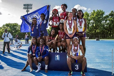Austin Peay Lady Govs Outdoor Track and Field nabs third placed in Nashville at OVC Championships. (APSU Sports Information)